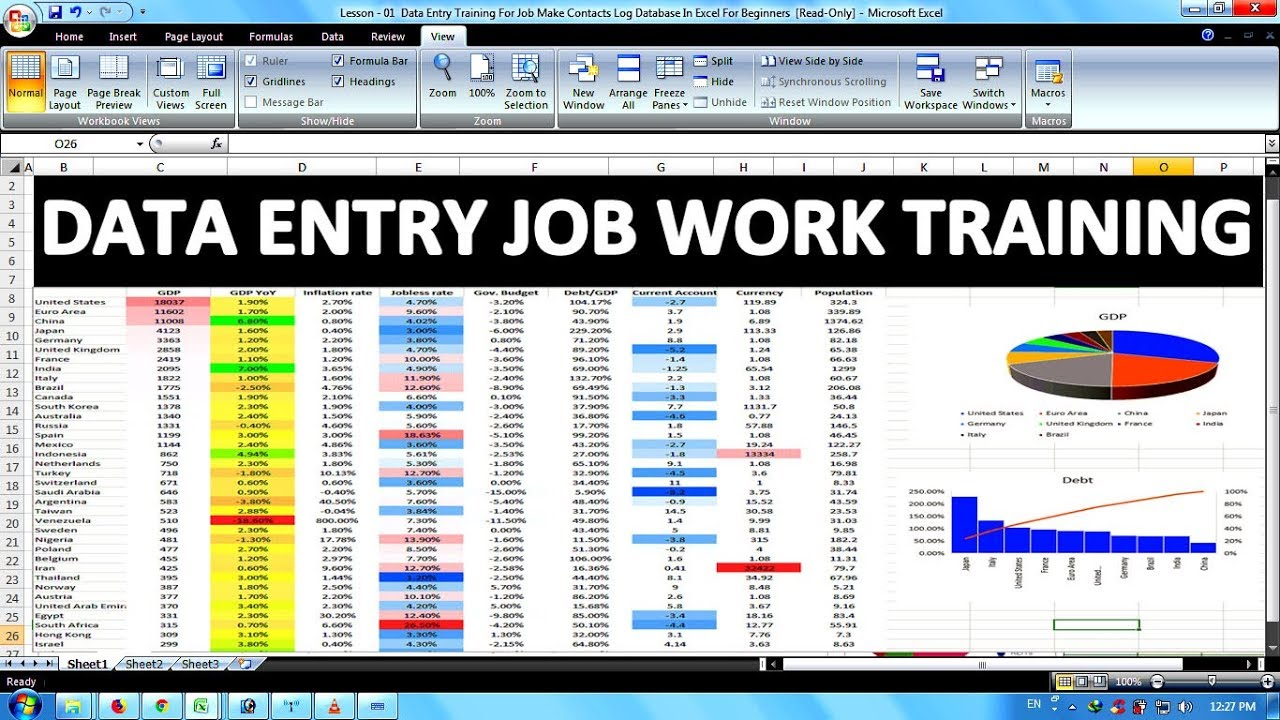 Data Entry & Office Work Training For Job In Excel In Hindi Part- 02