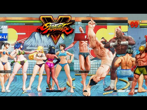 Street Fighter V AE Sakura/Menat/Kolin/Poison/Chun Li Vs F.A.N.G/Zangief/Sagat/Akuma/Ken PC Mod