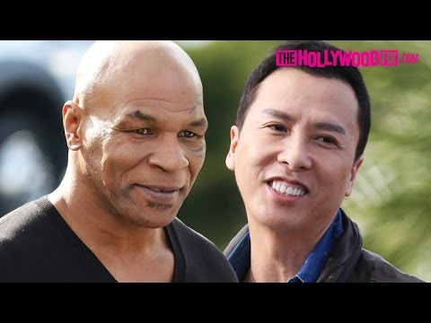 "Mike Tyson & Donnie Yen Promote ""Ip Man 3"" At Hollywood TV Appearance 1.21.16"