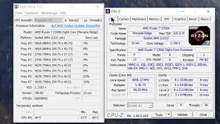 Ryzen 2700x Core Temp und Stress Test