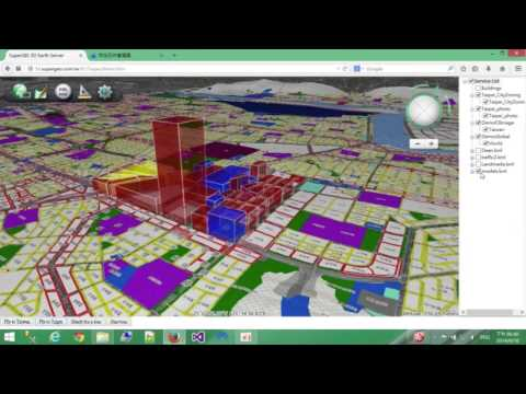 SuperGIS 3D Earth Server: Smart City application