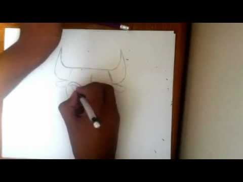 How to draw the bulls sign/logo