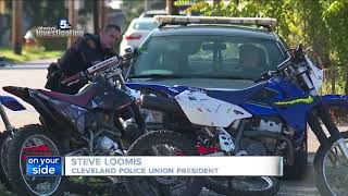 Cleveland police say dirt bike unit has made six felony arrests, recovered four stolen bikes