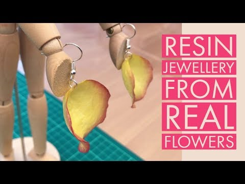 How to Make Resin Jewellery from Real Flower Petals