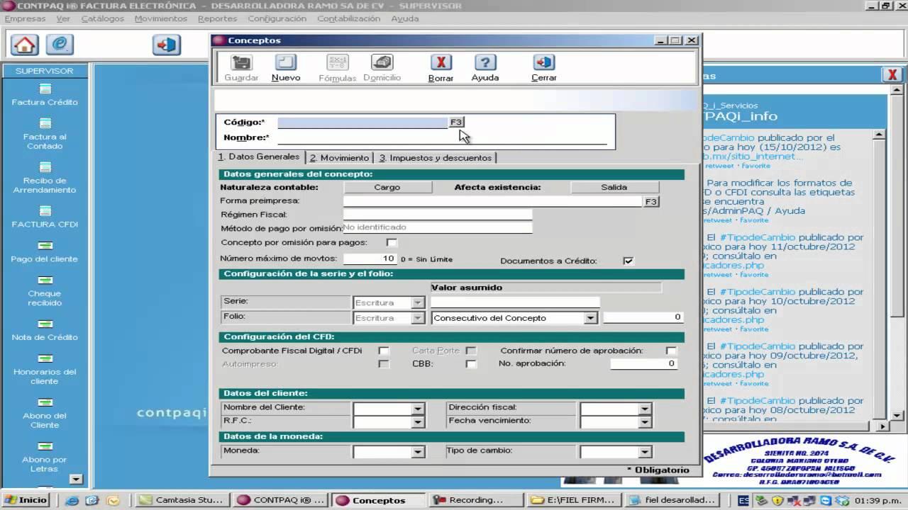 como cambiar formato de factura electronica en contpaqi youtube