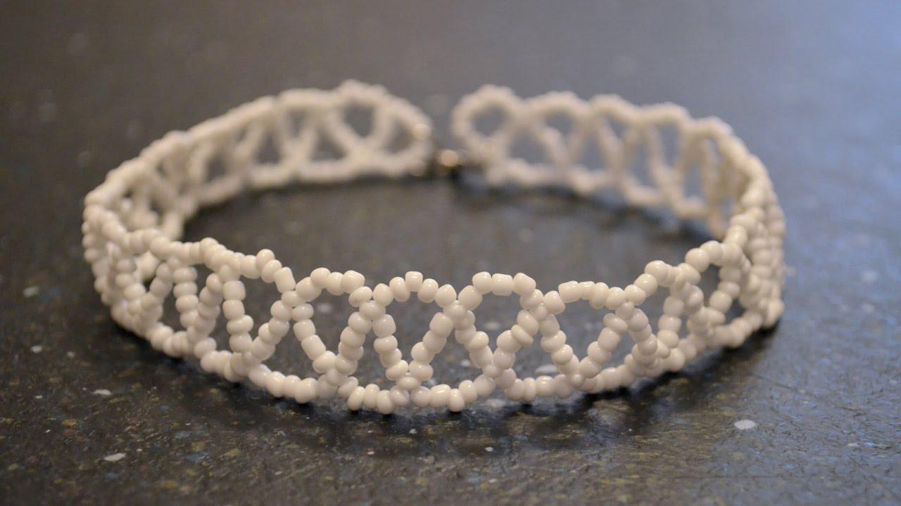 Схема плетения чокера: украшения из бисера - ЭтноБохо 5