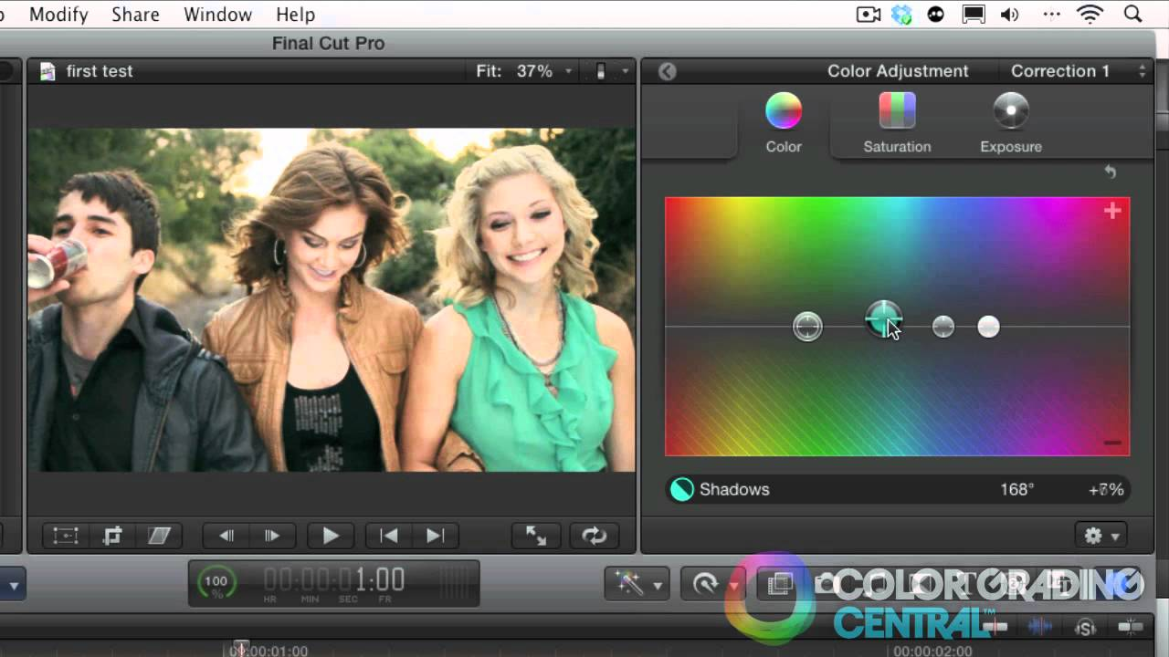 How to color correct w/teal and orange|final cut pro x tutorial.