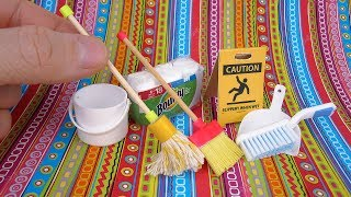 DIY Miniature Cleaning Set   DollHouse   No Polymer Clay!