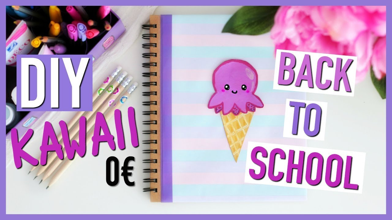 diy back to school 0 kawaii fournitures scolaires fran ais youtube. Black Bedroom Furniture Sets. Home Design Ideas