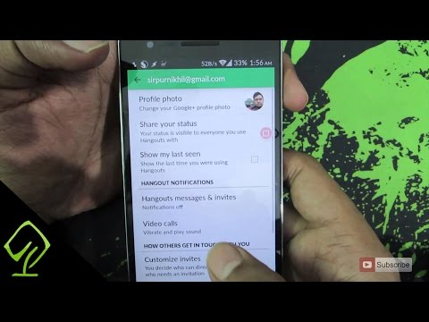 How To Enable Or Disable The Message And Call Notifications On Google Hangouts On Android Device