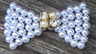Como fazer um laço em Perolas FACIL -Lace pearls por flor do jardim