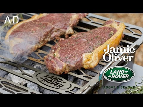 Grilling a Steak with my Incredible Kitchen Car | Jamie Oliver & Land Rover Part 2 | AD