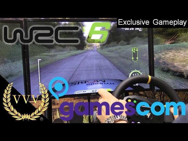 WRC 6 Gameplay Gamescom 2016