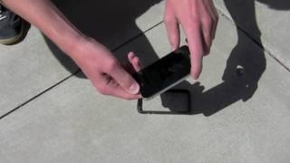 iPhone 4 Drop Test: Apple Bumper Case