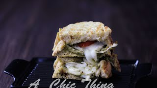 #sandwichweek , #أسبوع الساندوتش , Panini Sandwich, Mozzarella Pesto Panini, ساندوتش بانيني