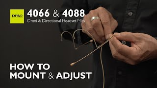 Learn how to mount and adjust 4066/4088 Headset Microphones properly