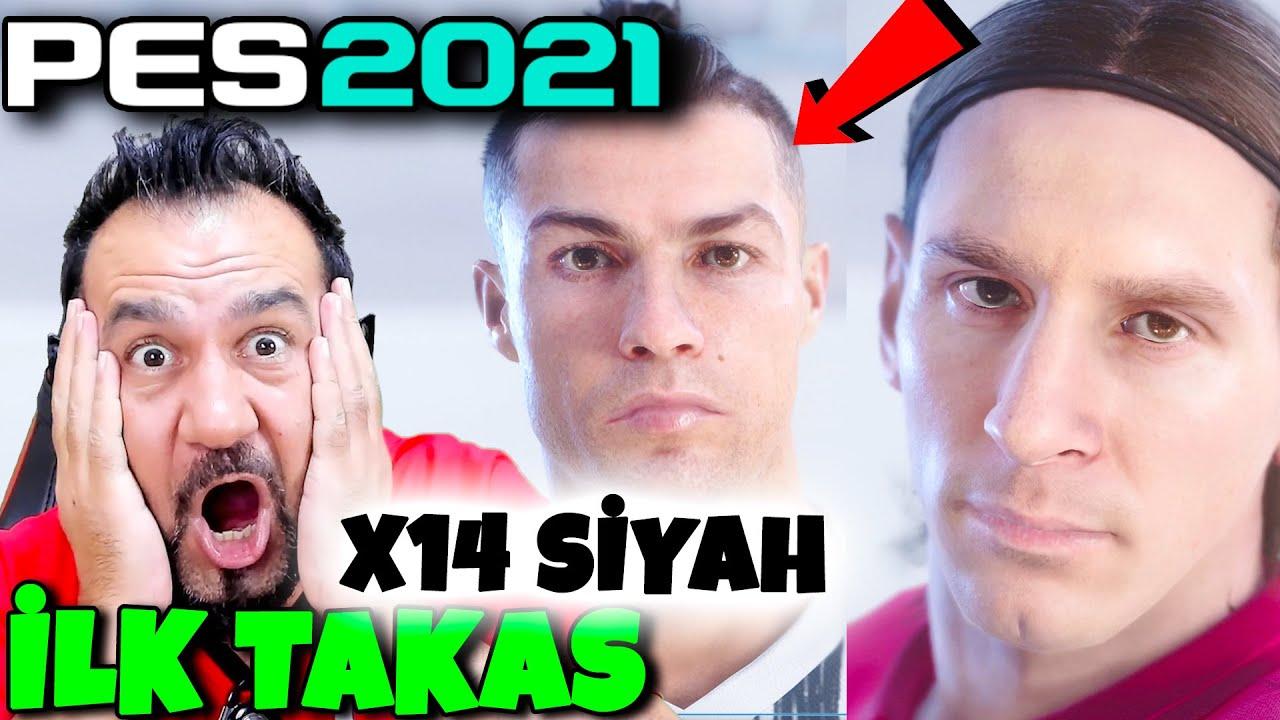 PES 2021 İLK TAKAS! RONALDO VE GENÇ MESSİ GELDİ! x14 SİYAH TOP! | PES 2021 SİYAH TOP AÇILIMI