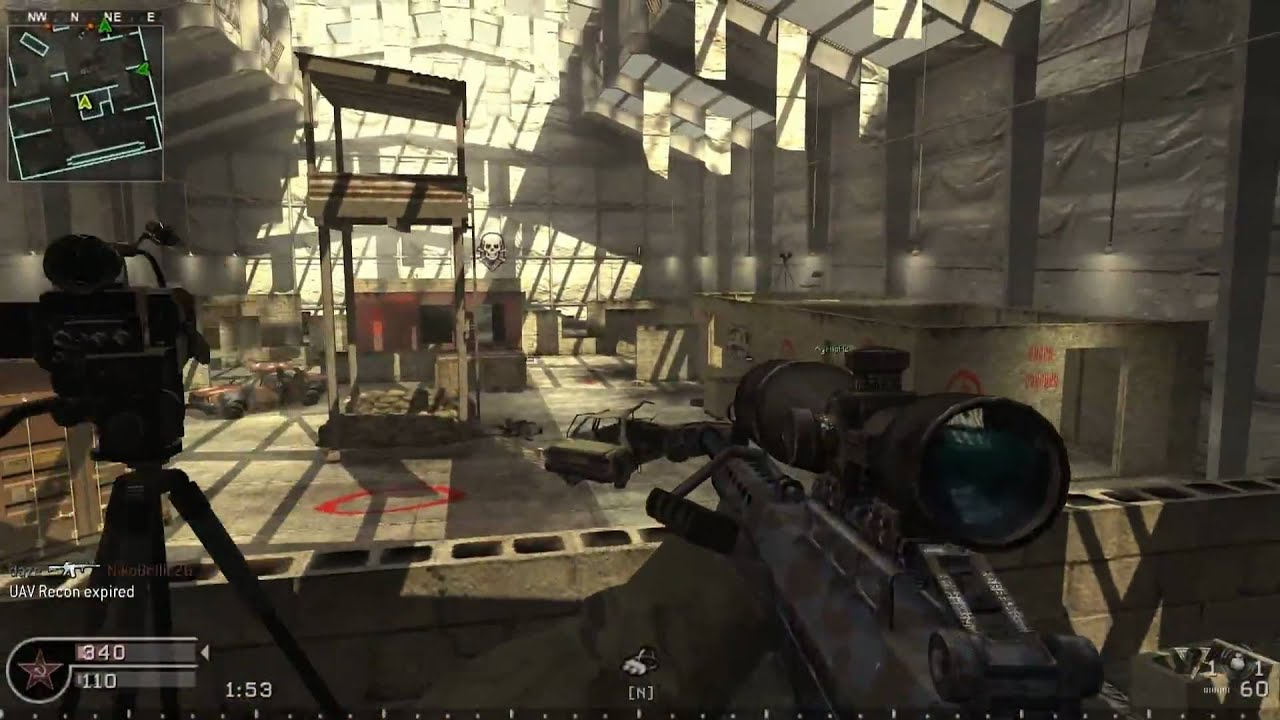 CoD4 Online gameplay Killhouse (PC)