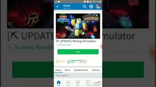 Roblox #1 • PRO • playing in mining Simulator