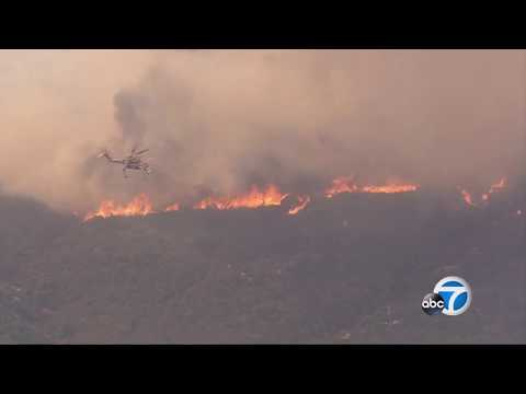 Brush fire in Cleveland National Forest near Wildomar, California LIVE