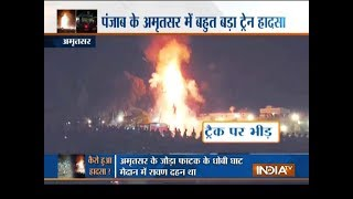 Amritsar train accident: 61 killed as speeding train runs over people watching Ravan burning