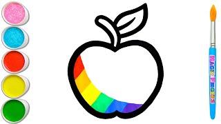 Menggambar dan Melukis Apel Untuk Anak & Balita | Tip Seni Sederhana #64