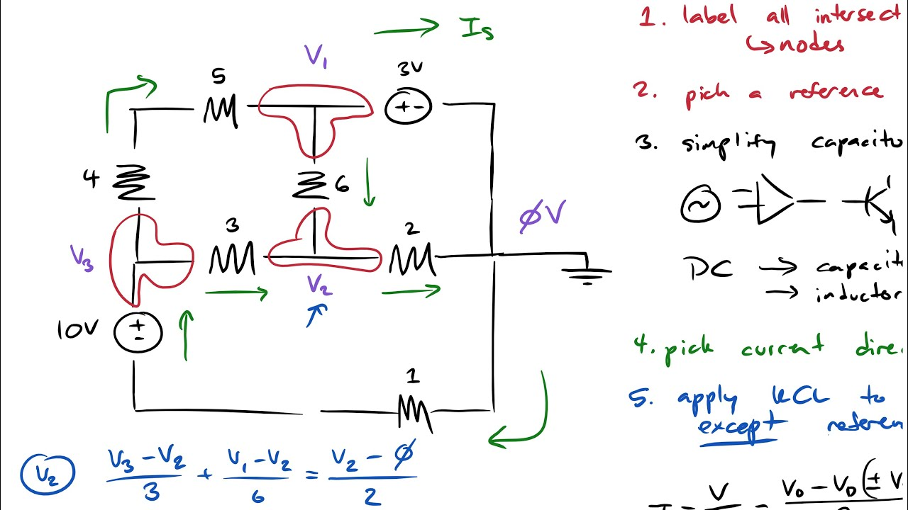How To Solve Any Dc Rlc Circuit Mna Youtube Current Voltage In Series Parallel Circuits