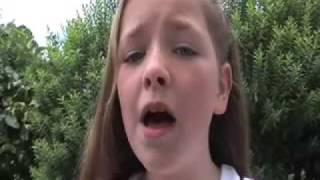 wee lassie sings Ye Banks And Braes O