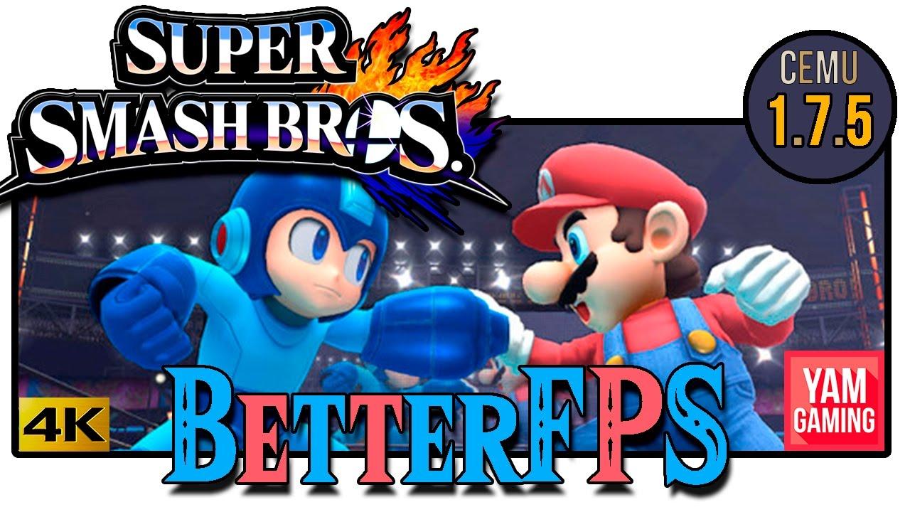 Smash bros 4 fps FIXED! [Cemu 1 7 5] Dlcs char test!