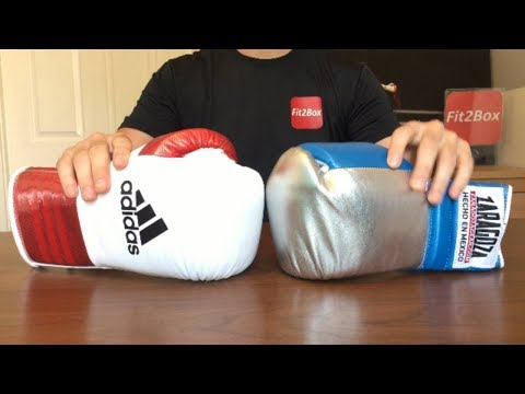 ADIDAS CUSTOM BOXING GLOVES VS ZARAGOZA LACE UP BOXING GLOVES HEAD TO HEAD TITLE ELIMINATOR