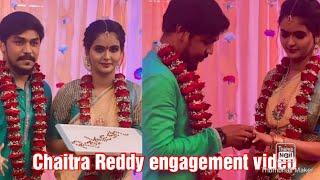 Chaitra Reddy engagement video|Yaaradi nee mohini serial swetha engagement|zee tamil|nakshatra|YNM