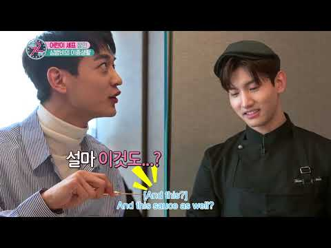 Changmin cook for  Minho