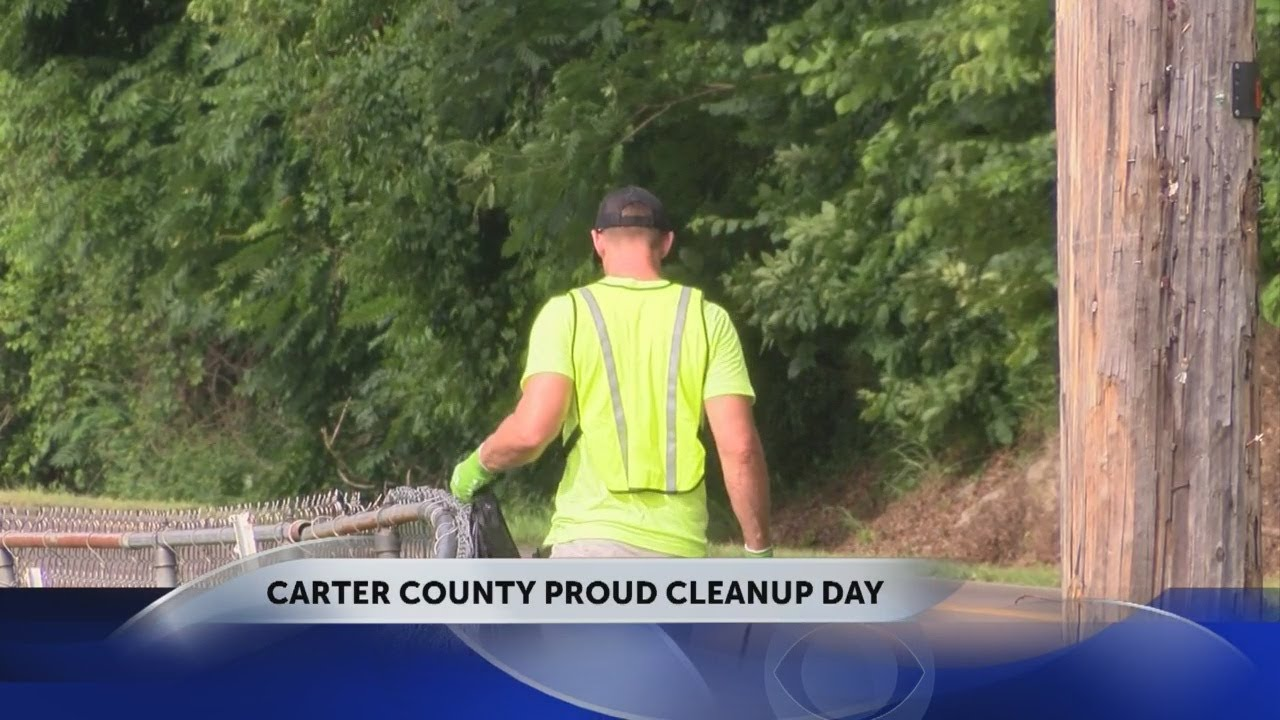 Carter County Proud meets for quarterly road cleanup