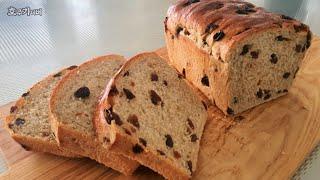 호주카페서 먹는 그 맛 그대로 도톰한 레진 토스트 달콤바삭 정말 맛있어/건포도 식빵 쉽게 만들기/ 레진 브레드/ easy and best raisin bread