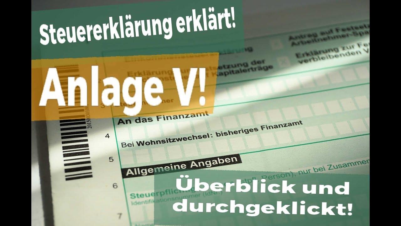 Super Steuererklärung 2017: Anlage V - so klappt es mit dem ausfüllen NG79