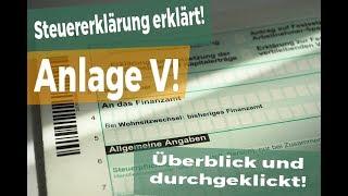 Steuererklärung 2017: Anlage V - so klappt es mit dem ausfüllen!