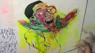 Alex Pardee Paints Steve Urkel