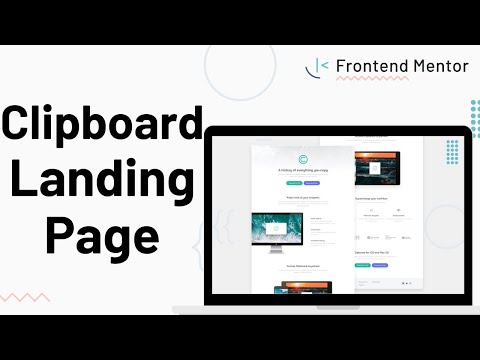 Clipboad Landing Page - Design To HTML/CSS
