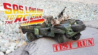 Land Rover Series II SAS Patrol Vehicle RC car build (Test drive) (Starring RST RS4/FTX...