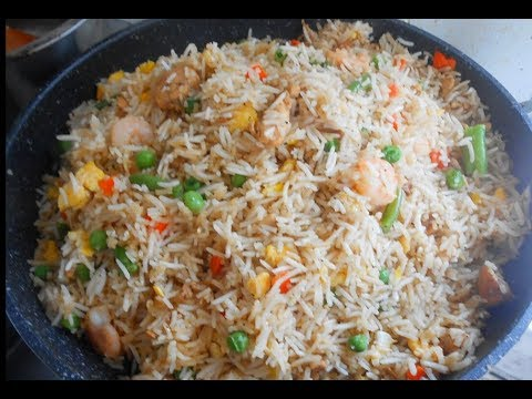 Chicken And Prawns Mauritian Fried Rice (less Oily)