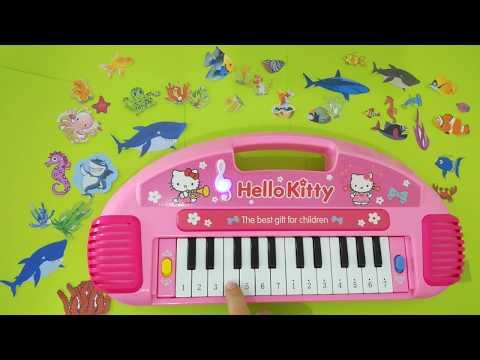 EASY BABY SHARK PIANO tutorial for kids -- nursery rhymes - YouTube