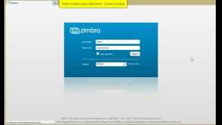 zimbra 8 Demo Collaboration Suite