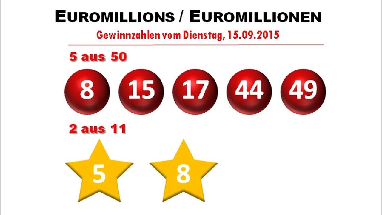Gewinnzahlen Euromillion