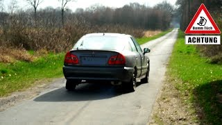 Unfallwagen reparieren ? Rad richten und Probefahrt | Dumm Tüch