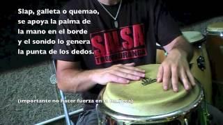 "Joaquin Arteaga Aprende a tocar congas ""El tumbao"" básico de salsa"