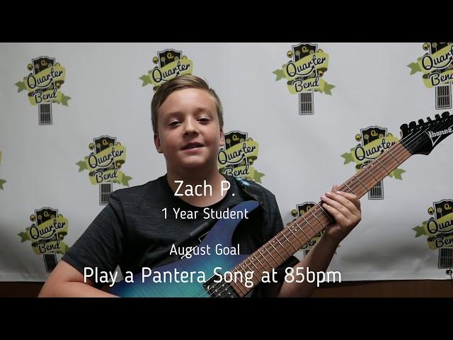 Student Spotlight- Zach Plays Pantera Riff