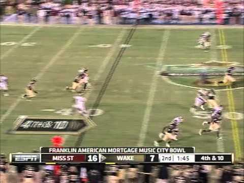 2011 Music CIty Bowl Wake Forest vs Miss St