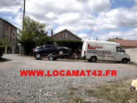 Chargement remorque porte voiture basculante locamat42 for Porte voiture