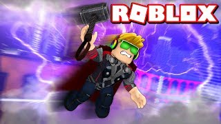I AM THOR THE THUNDER GOD in ROBLOX SUPERHERO SIMULATOR BY DENIS
