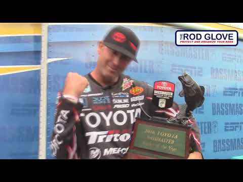 Pro Bass Elite and Winner Gerald Swindle thanks The Rod Glove